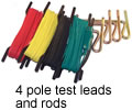 4 pole test leads and rods